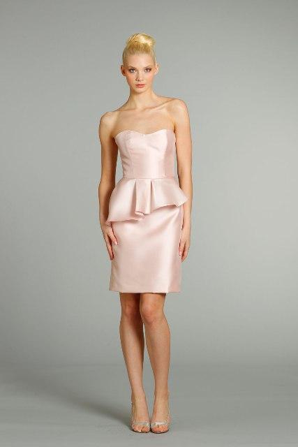 20 Charming Peplum Bridesmaid Dress Ideas - Weddingomania