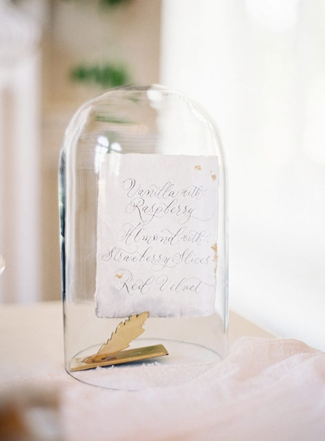 Classic Calligraphy Wedding With Golden Touches