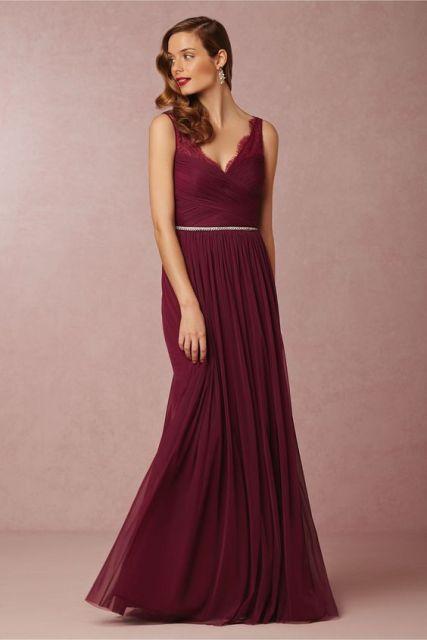 20 Stunning Marsala Bridesmaid Dress Ideas For Fall Weddings photo