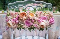 Gorgeous floral chair for bride