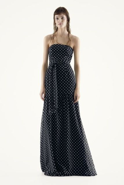 Gorgeous maxi strapless dress idea