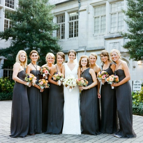 Gray bridesmaid dress ideas