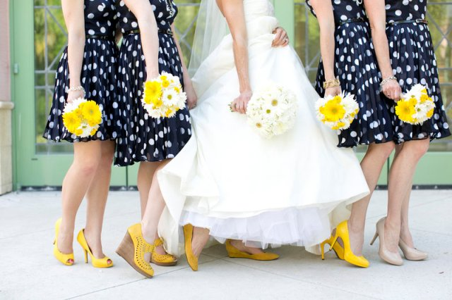 Knee Length Dresses With Yellow Shoes