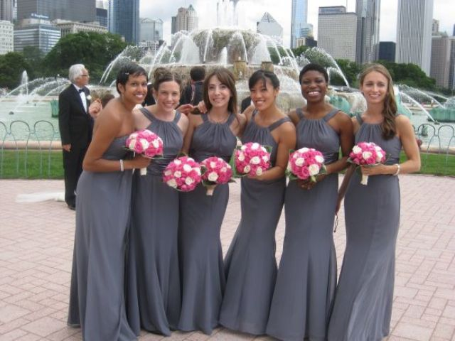 Light gray maxi halter dresses