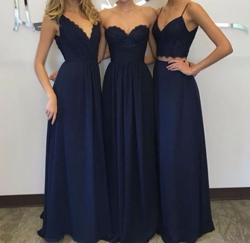 20 Amazing Navy Blue Bridesmaid Dress Ideas - Weddingomania