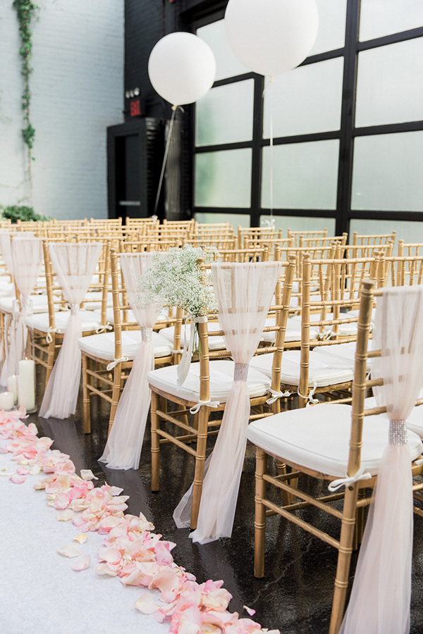 New York Wedding With Mixed Modern And Vintage Details
