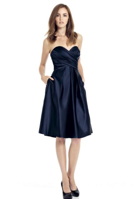 Strapless Knee Length Dress
