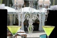 Original lucite candelabrum for wedding table