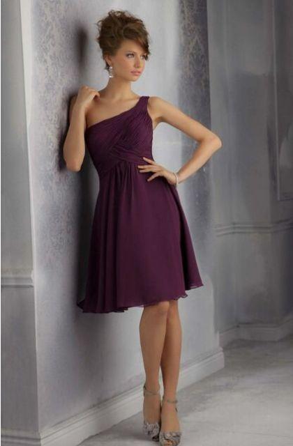 Simple but chic purple mini dress