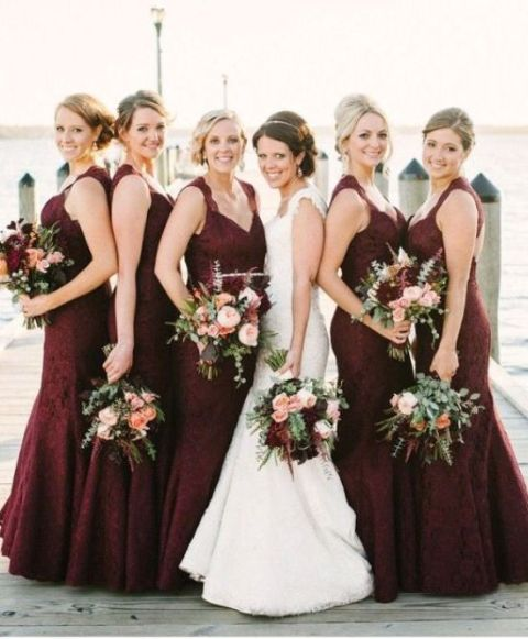 20 Stunning Marsala Bridesmaid Dress Ideas For Fall Weddings ...