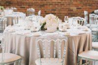Stunning lucite wedding chairs