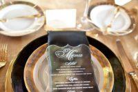 Stunning lucite wedding menu card