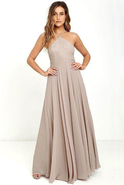 Stunning neutral shade maxi dress