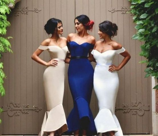 Stunning off the shoulder bridesmaid dresses