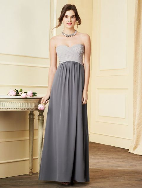 Two color bridesmaid dress idea