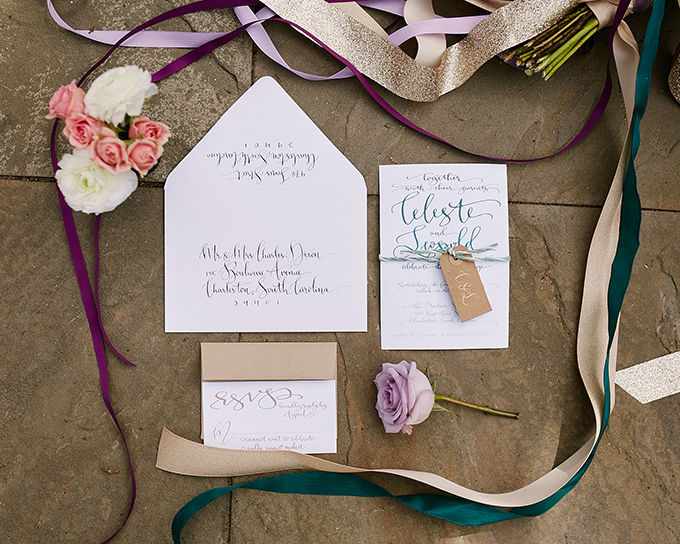 This shoot in a mix of colors is a boho inspired and geometric one