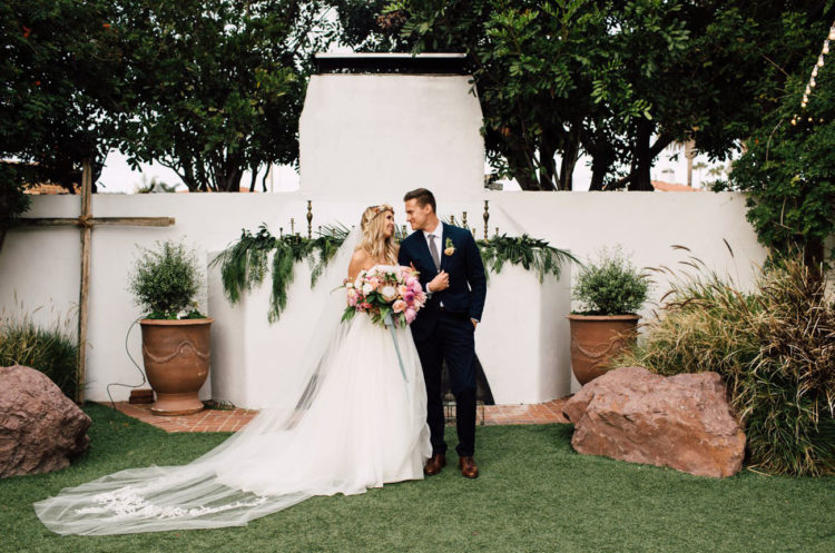 This wedding is inspired by tropics and boho chic, it's eclectic and eye catchy