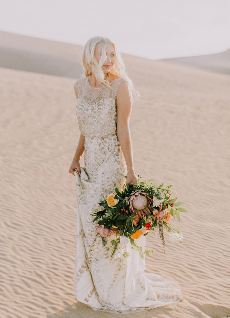 the bridal gown was a gorgeous sparkling one with a boho vibe