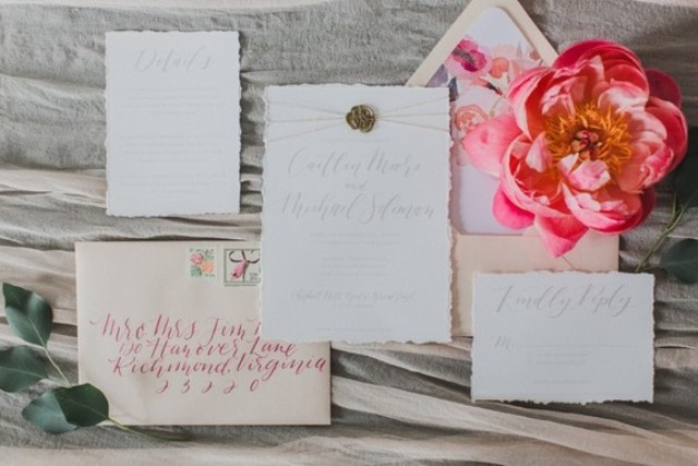 Even the stationery had floral lining to highlight the flowers
