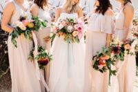 boho-styled bouquets