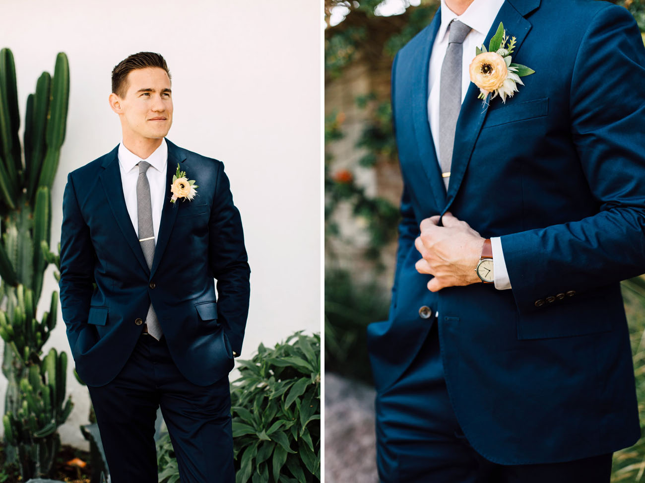 hot groom's navy suit