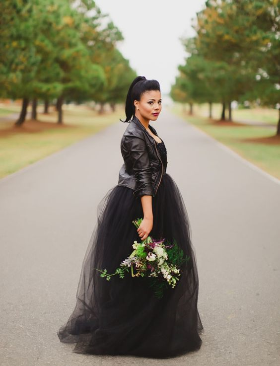 wedding dress jacket 27 chic ways to rock a leather jacket at your wedding 9230