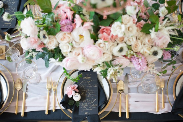 Gorgeous blush florals make this table adorable