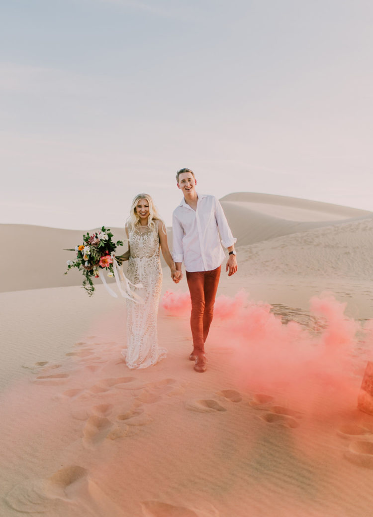 the gorgeous desert sand setting became a perfect backdrop
