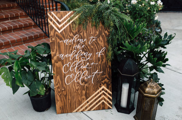 There were a lot of DIY projects that personalized this wedding
