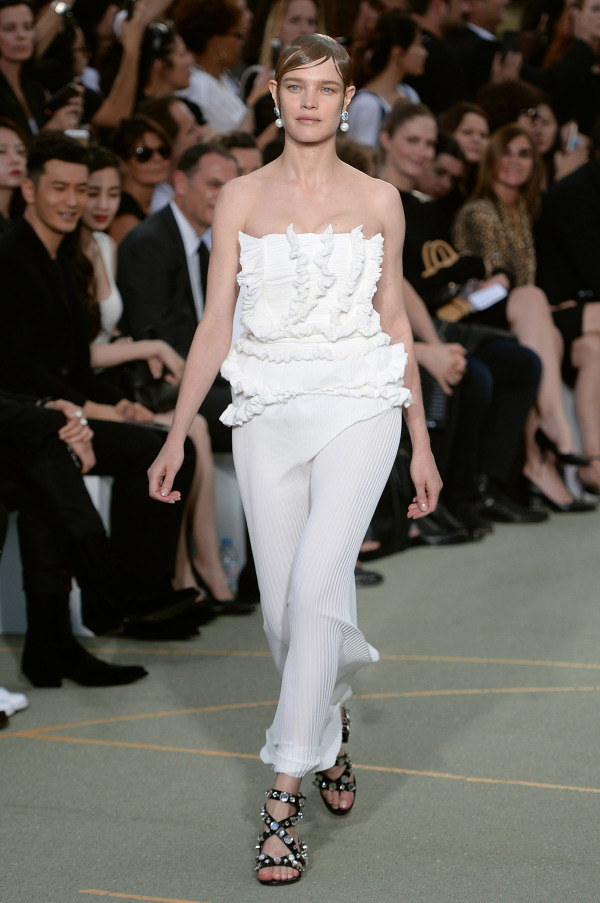 Givenchy offers to rock a ruffled bridal jumpsuit