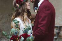 09 burgundy groom's jacket