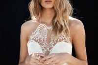 09 lace halterneck wedding dress is ideal for larger busts