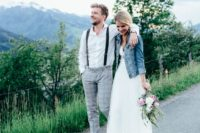 11 denim jacket for a relaxed and non-formal bridal look