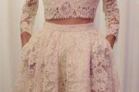 15 midriff wedding dress of lace