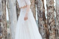 16 midriff lace bridal separate