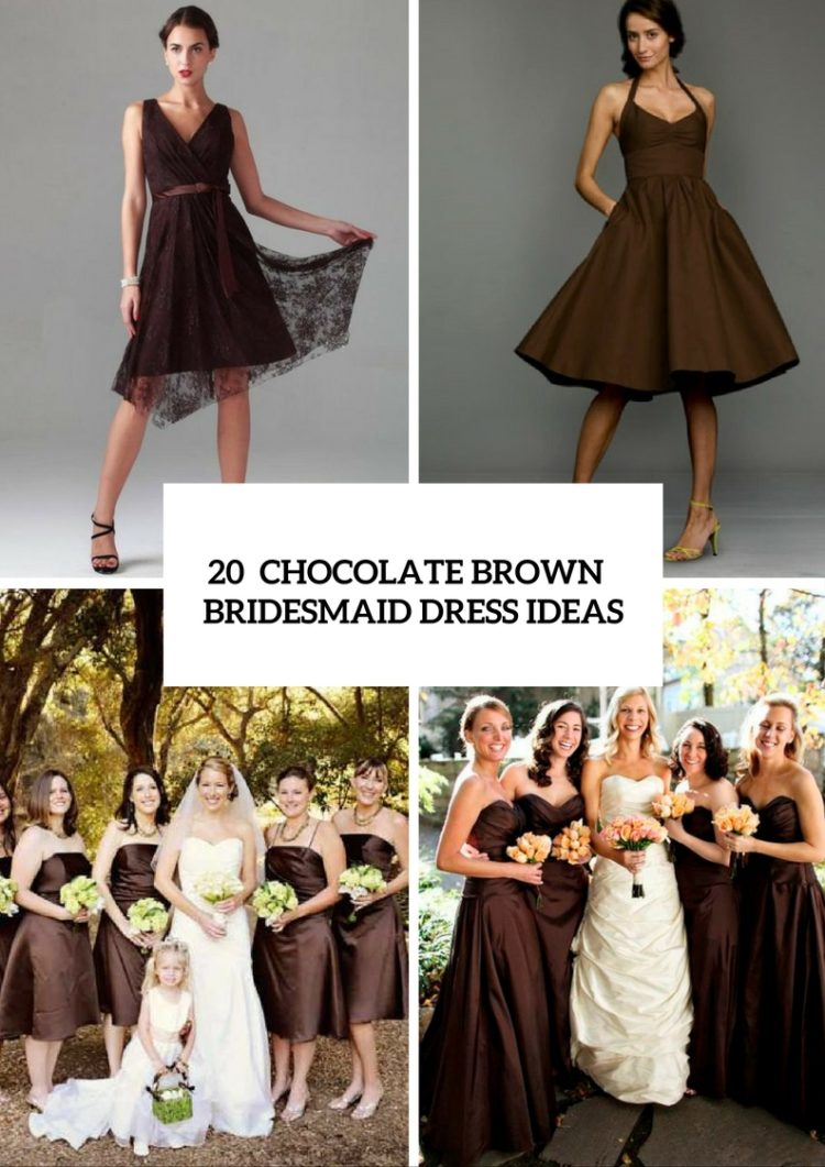 20 chic chocolate brown bridesmaid dress ideas weddingomania for Brown dresses for a wedding