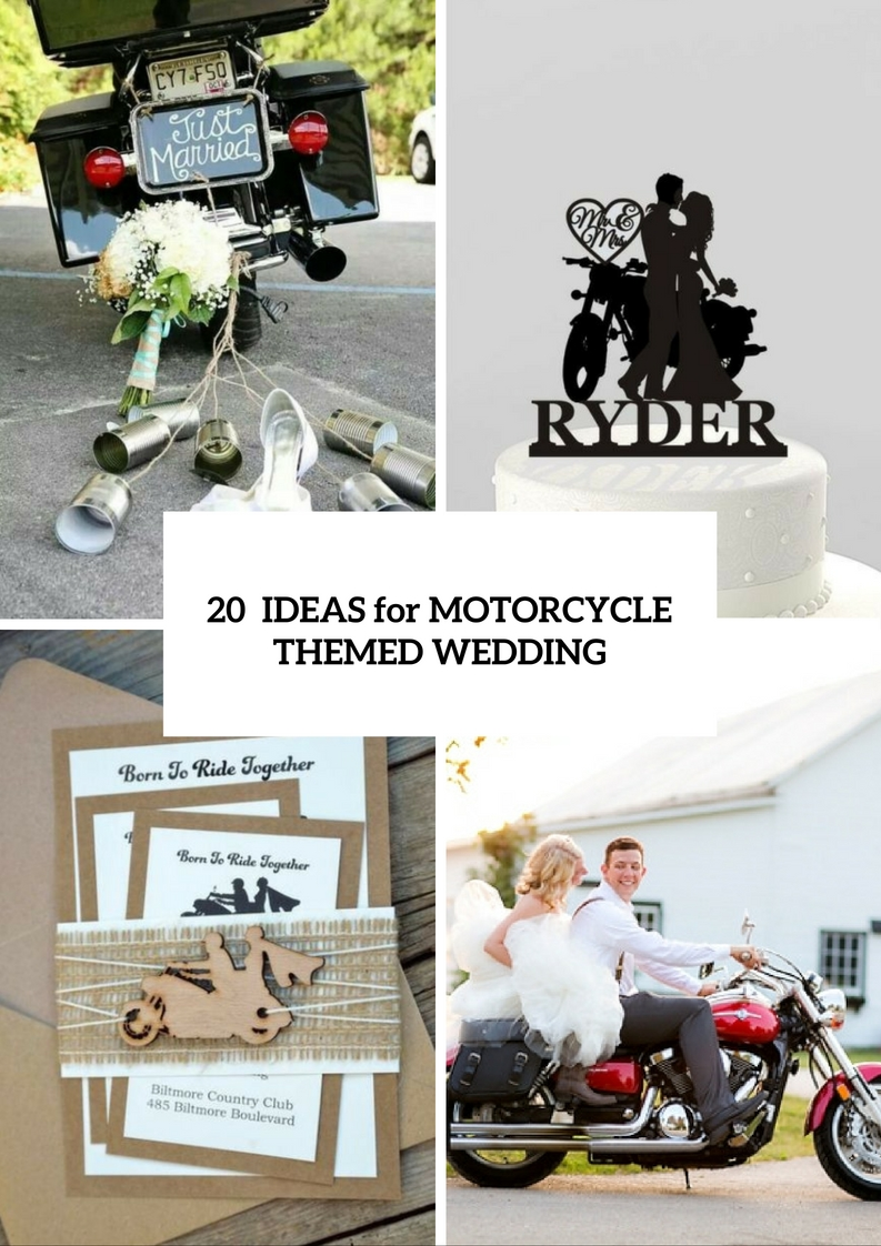 Picture Of Cool Motorcycle Themed Wedding Ideas