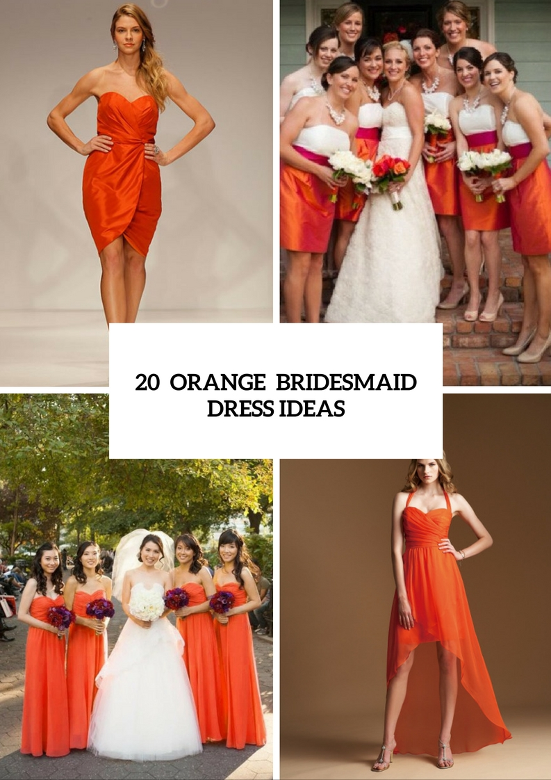 Eye Catching Orange Bridesmaid Dress Ideas For Fall Weddings