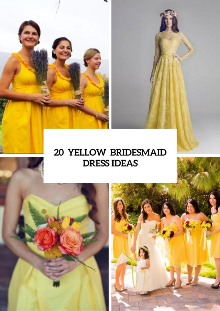 20 Eye-Catching Yellow Bridesmaid Dress Ideas