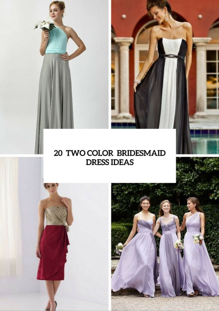 20 unique two color bridesmaid dress ideas weddingomania 20 unique two color bridesmaid dress ideas ombrellifo Image collections