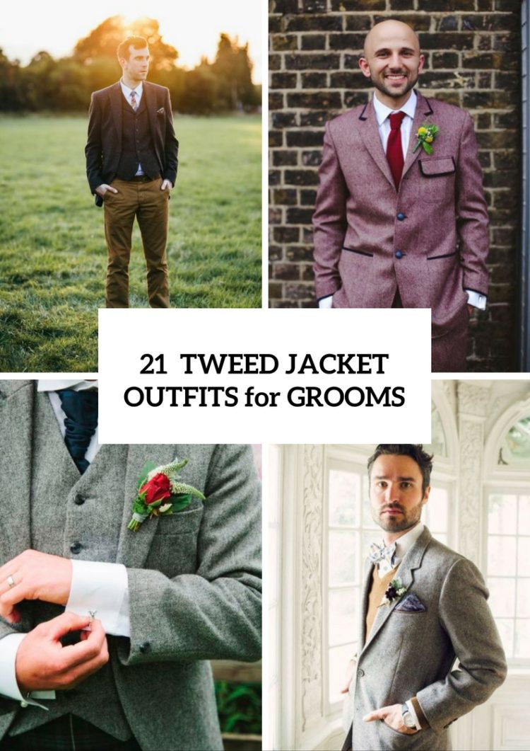 21 Classy Tweed Jacket Outfits For Grooms