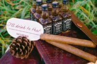 21 small bottles wedding favors