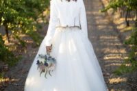 23 gorgeous white lace and tulle dress and a cropped white jacket