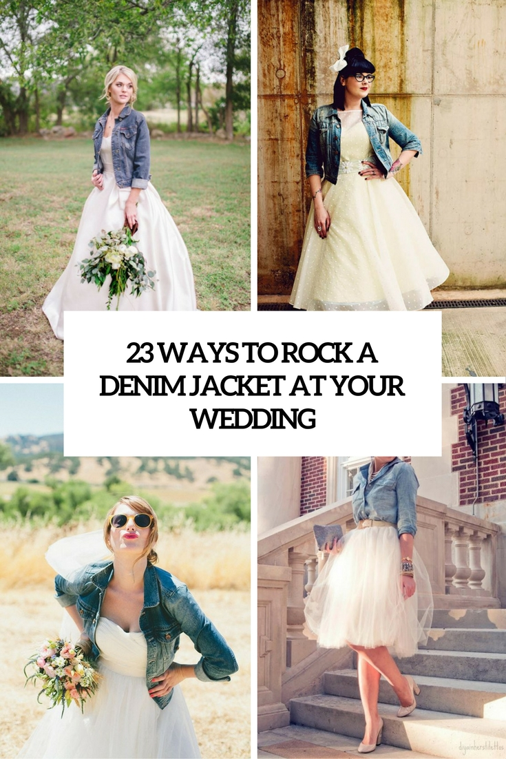 Denim wedding dress pictures