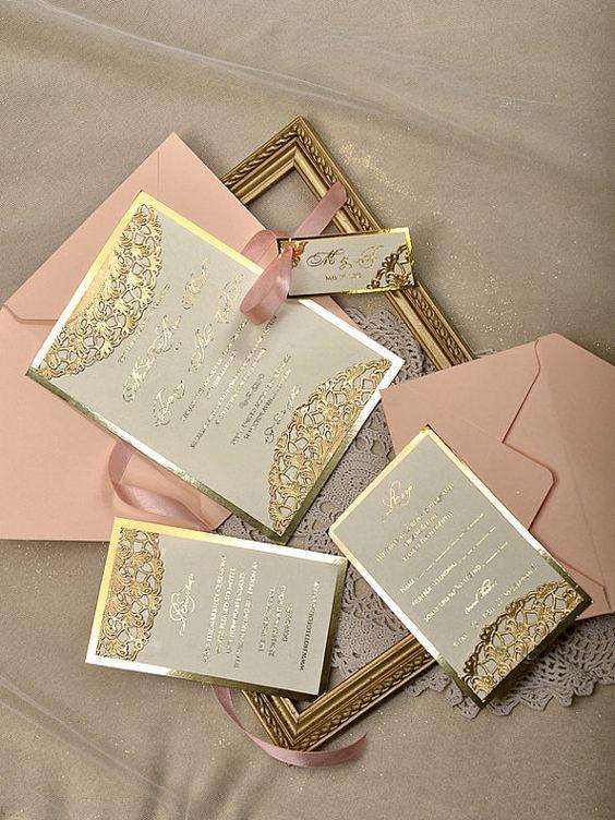 32 Sweet Blush And Gold Wedding Ideas - Weddingomania