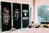 25 black hangings for a rock wedding