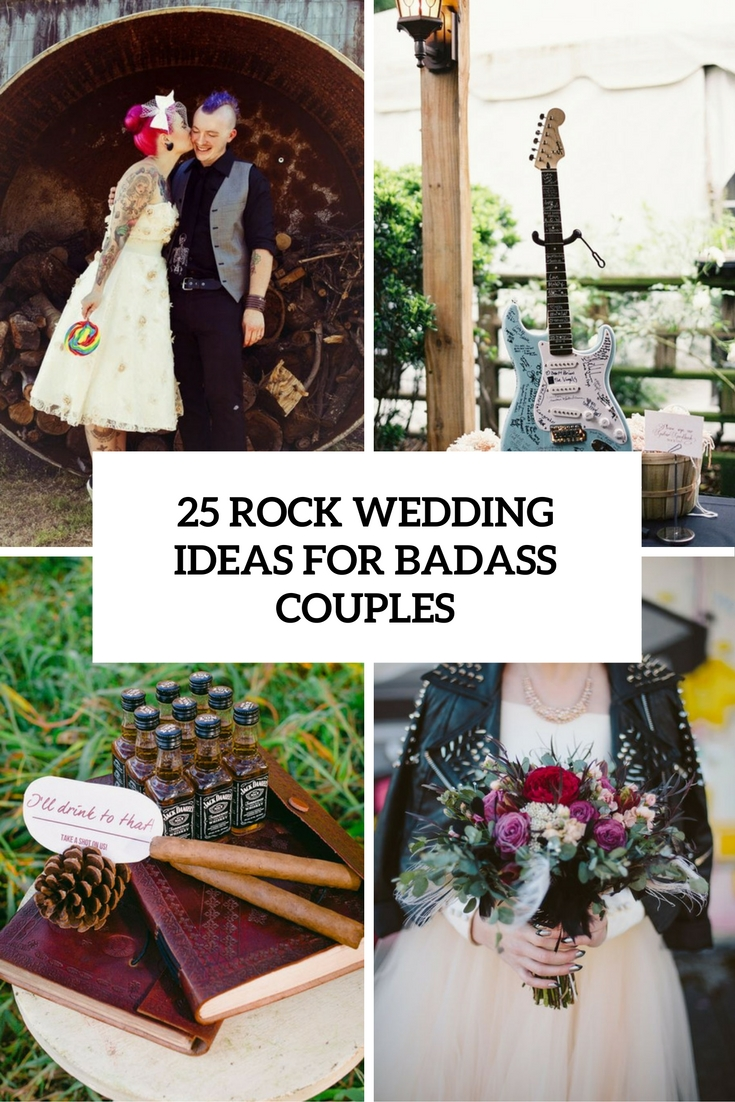 25 Rock Wedding Ideas For Badass Couples