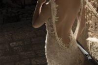 27 lace open back highlighted with a back necklace