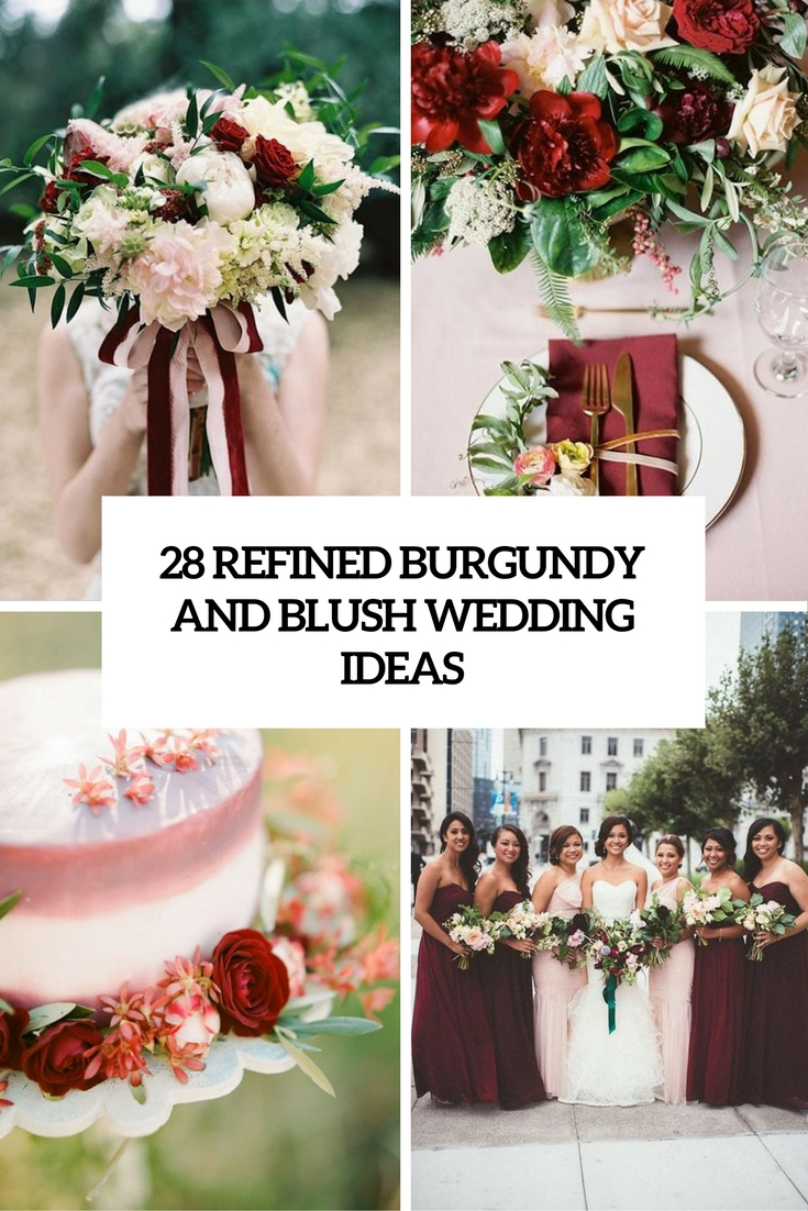 refined burgundy and blush wedding ideas cover