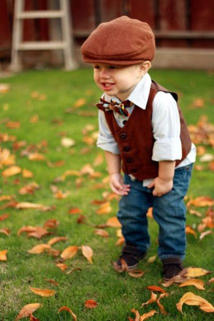 22 Comfy Fall Ring Bearer Outfits - Weddingomania